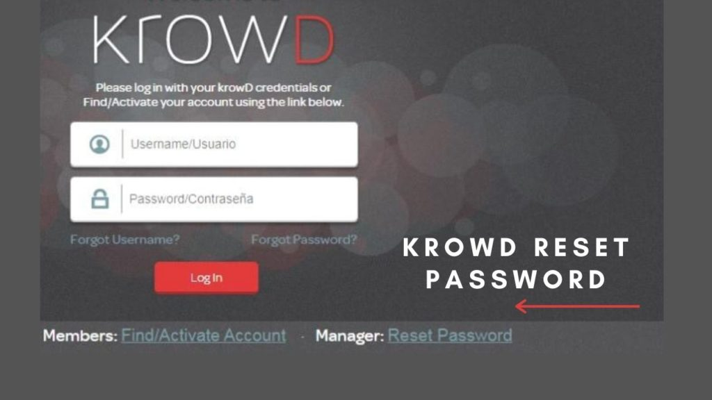 krowd reset password