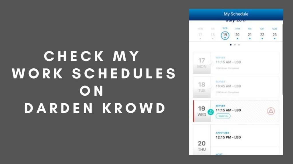 krowd work schedules