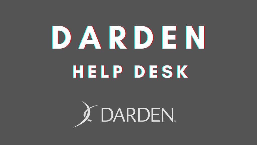 darden help desk